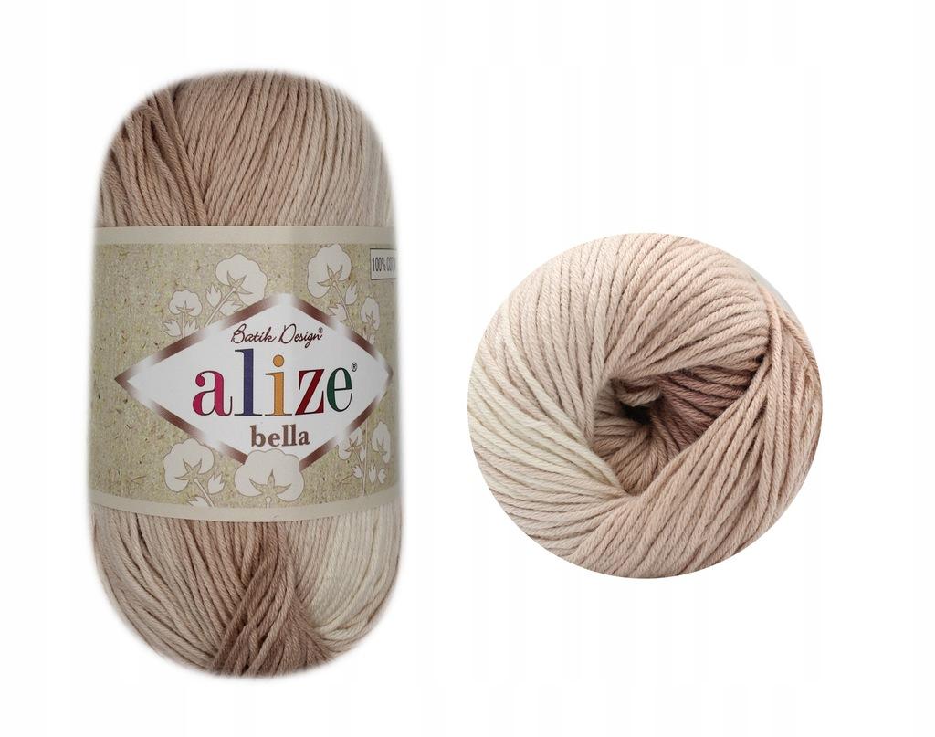 Włóczka Bella Batik - ALIZE - 100% bawełna 1815