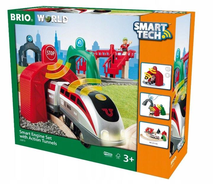 BRIO World 33873 Smart Tech Pociąg z tunelem