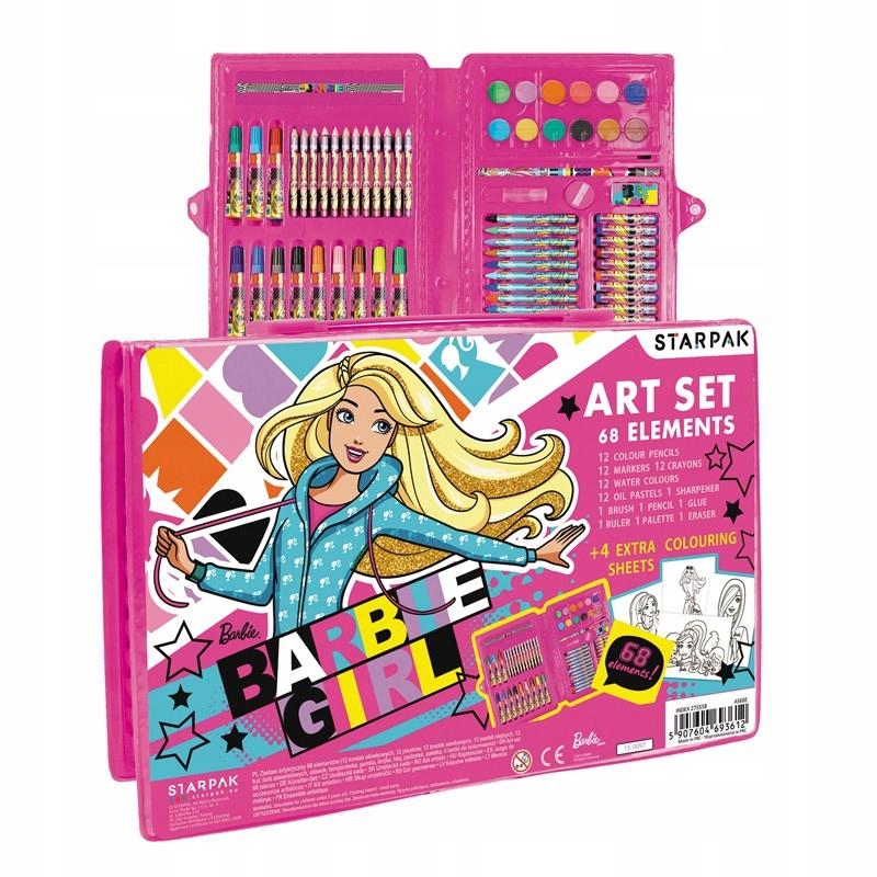 Zestaw artystyczny walizka 68 elementów BARBIE