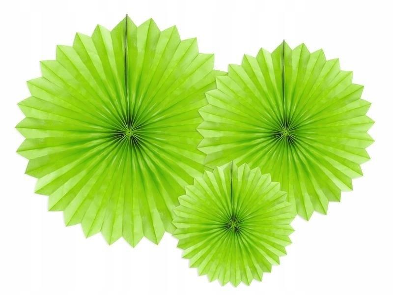 Rozety dekoracyjne z. jabłuszko 20-40cm, 150 szt.