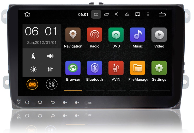 RADIO NAWIGACJA GPS VW PASSAT POLO ANDROID 7.1+KAM