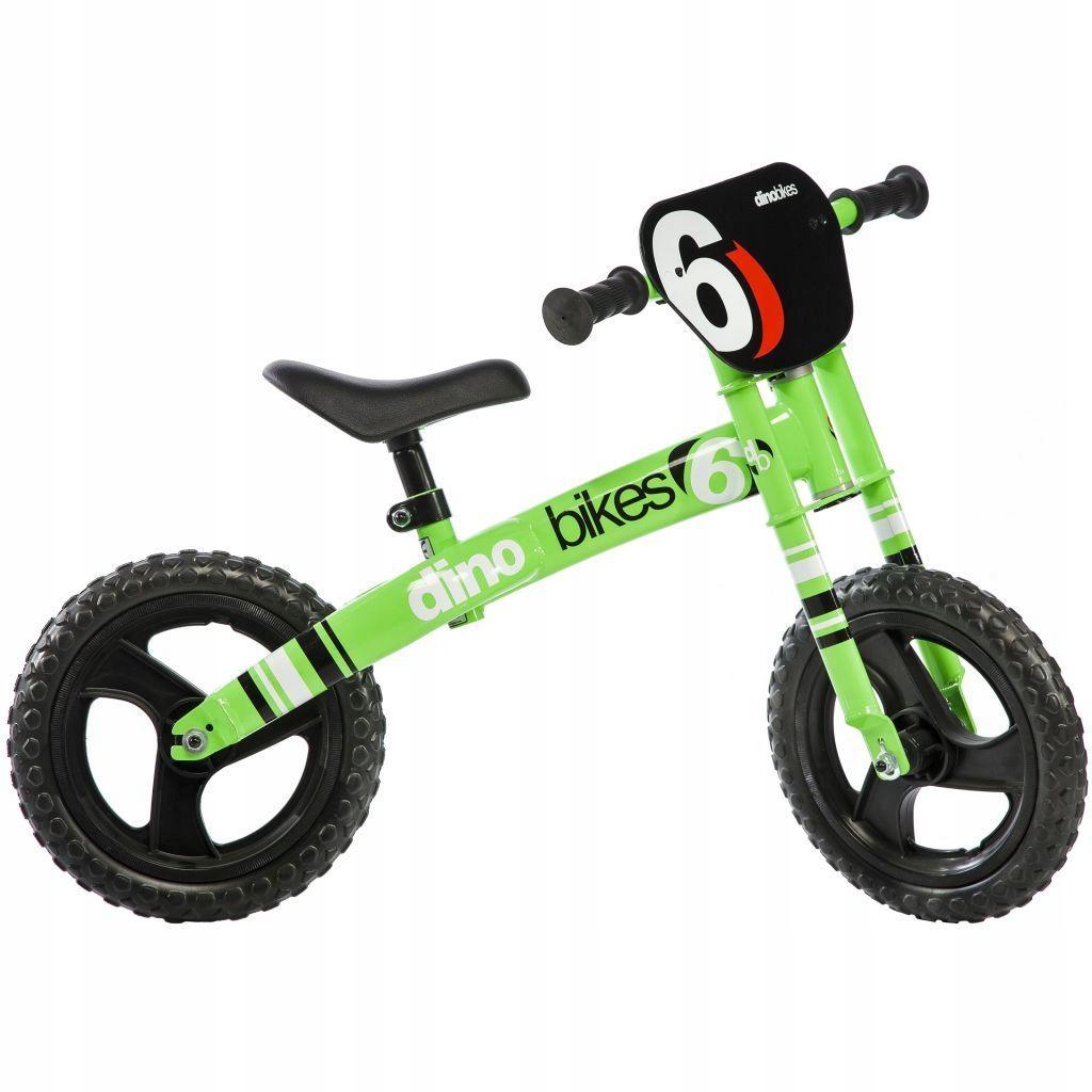 Dino Bikes Rowerek biegowy Runner, zielony,