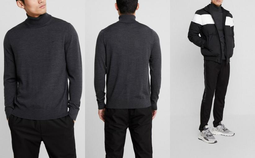 D33J009 SWETER SZARY GOLF CALVIN KLEIN TAILORED S