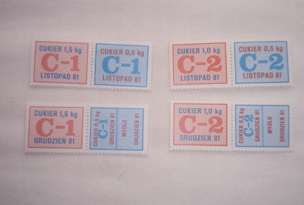 KARTKI NA CUKIER C1-C2 XI-XII 81