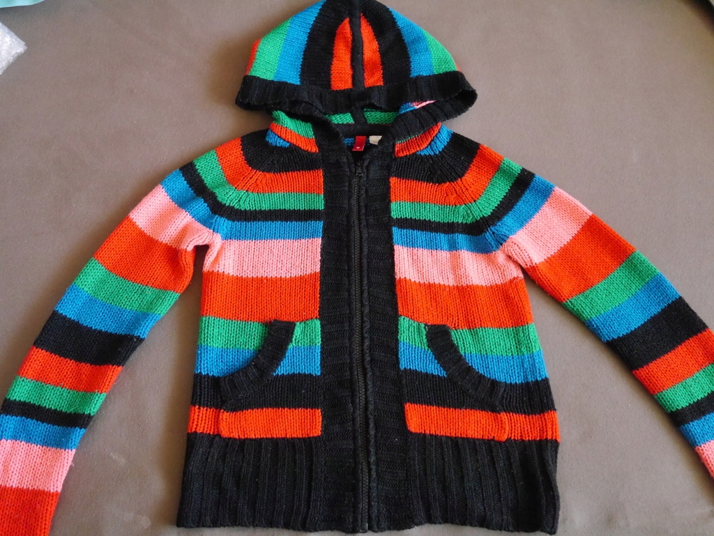 kolorowy sweterek z kapturem DIVIDED by H&M 36