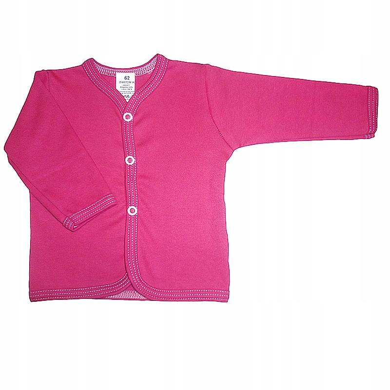 Kaftanik koszulka 80 bluzeczka rozpinana różowa