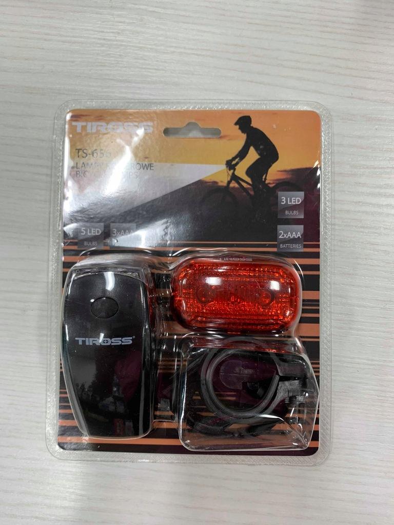 Zestaw oświetlenia do roweru TS656 LAMPA DO ROWERU