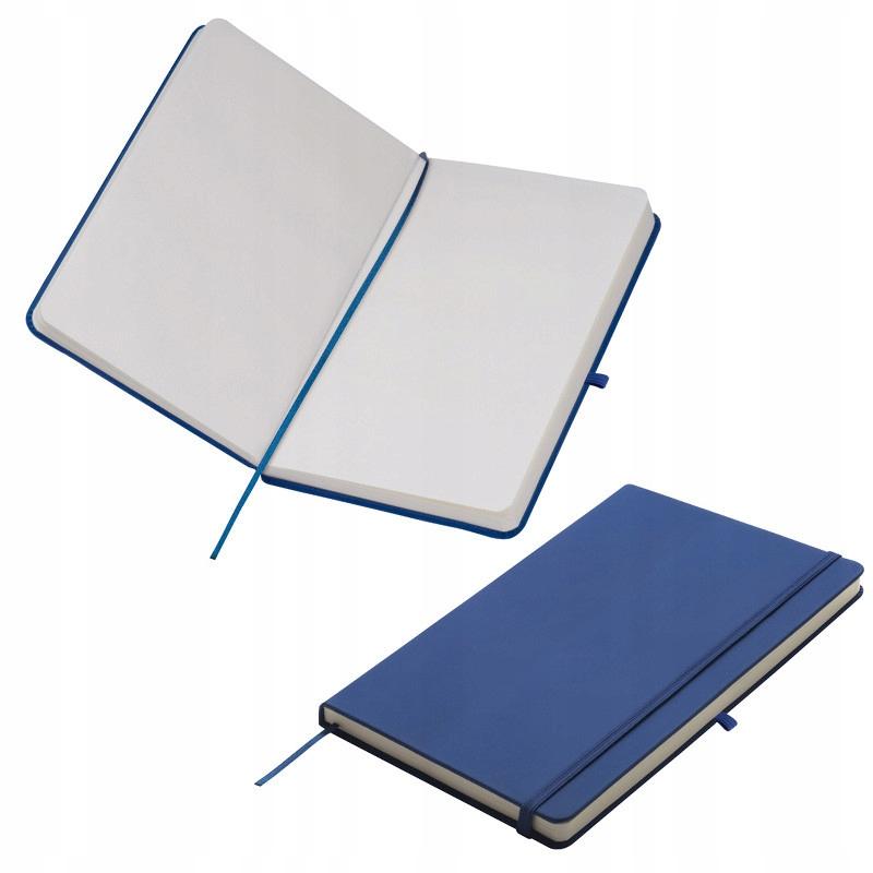NOTES A5 Z GUMKĄ - niebieski karton 50szt.