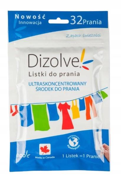 DIZOLVE Listki do prania EKO 32 prania FRESH