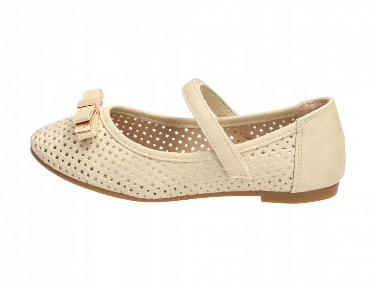 Beżowe balerinki, buty dziecięce BADOXX 489 r36