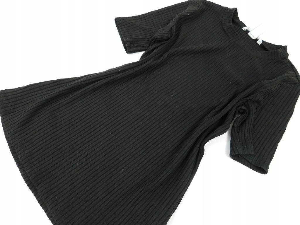2012k61 H&M czarna PRĄŻKOWANA bluzka PROSTA M