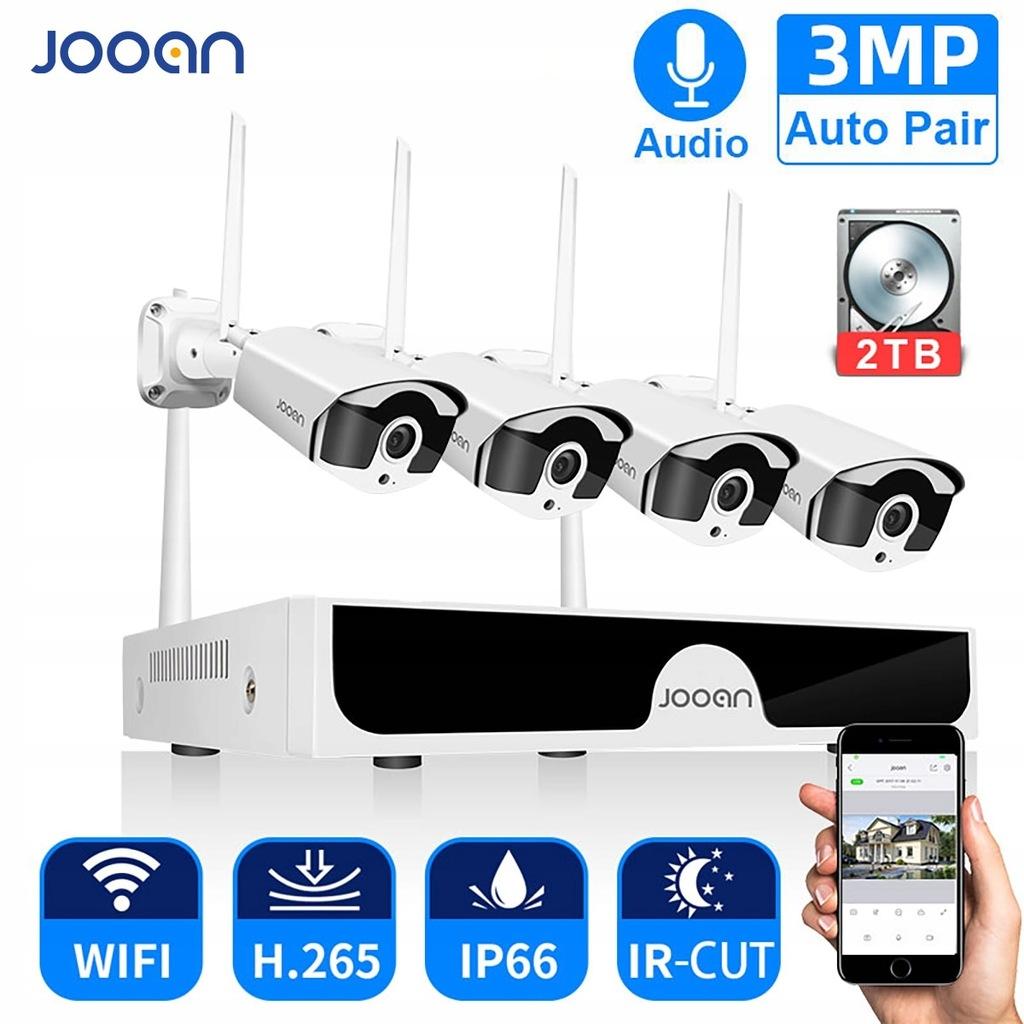 Jooan 8CH NVR HD 3MP System kamer CCTV nagrywanie