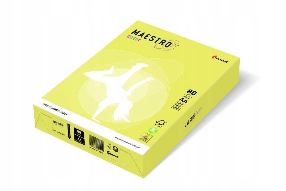 Papier xero MAESTRO COLOR A4 80g ZG34 cytrynowy_