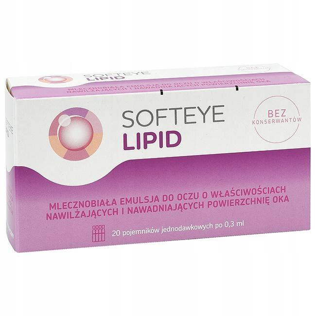 Softeye Lipid krople emulsja oczu nawliżająca 20x