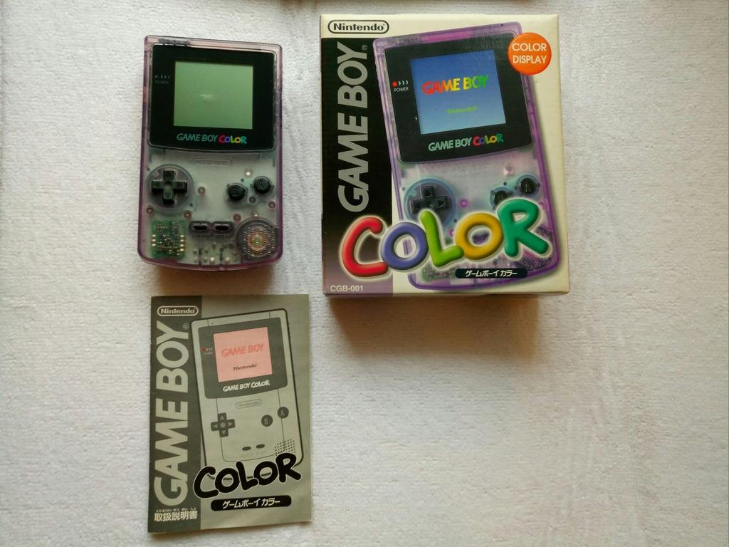 Konsola Nintendo Game Boy Color + box + instrukcja