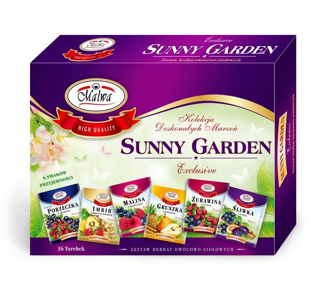 Herbata Malwa Sunny Garden Zestaw 36 kopert