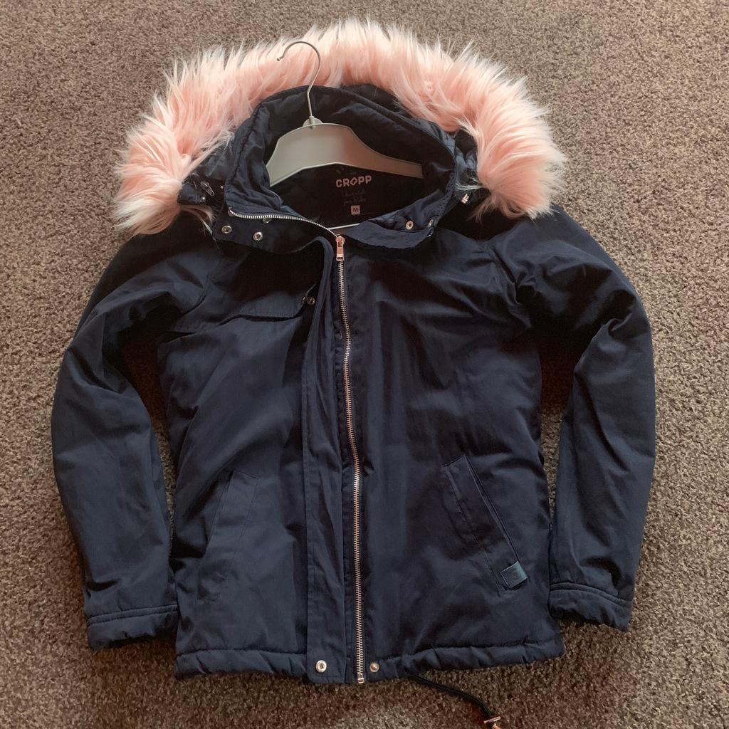 CROPP M fajna kurtka Różowe futerko 7792806397 oficjalne