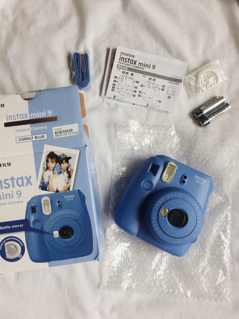 Aparat Instax mini 9 niebieski + wkład NOWY