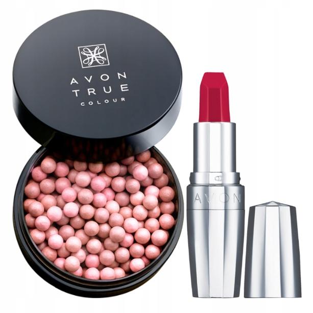 AVon Zestaw kosmetyków: perełki i szminka Ultimate