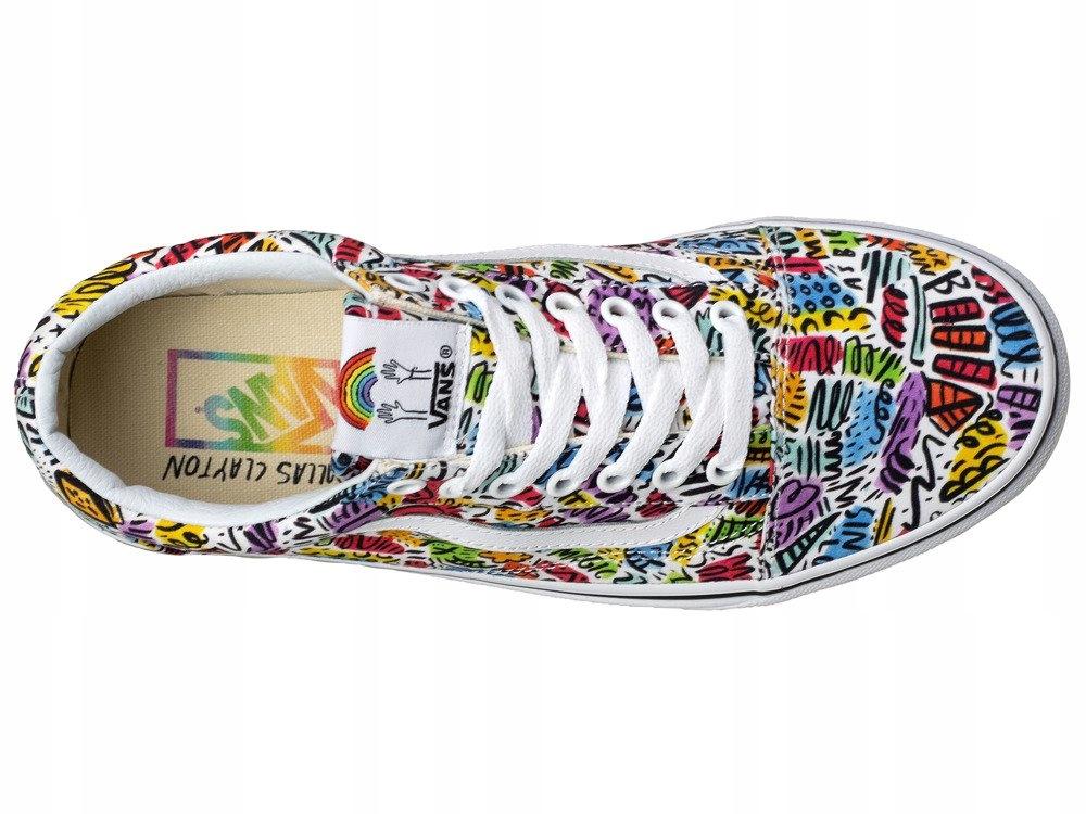 Kolorowe buty VANS trampki tenisówki ORYGINALNE 8123256380