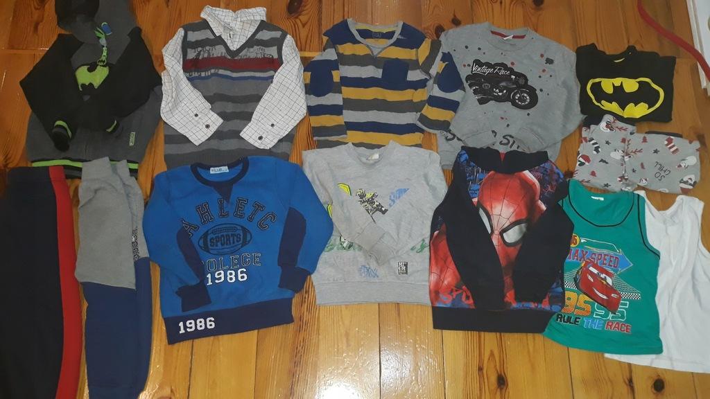 Zestaw (14 szt) dla chłopca 4 lata 104-110