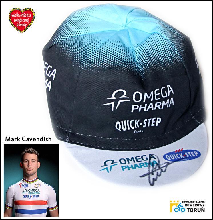 Czapeczka kolarska z autografem Marka Cavendisha