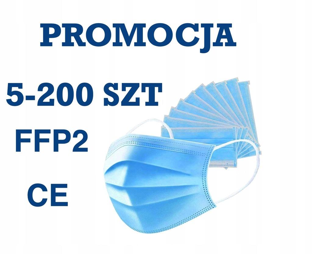 MASKA CHIRURGICZNA OCHRONNA 3 WARSTWY FFP2 400 SZT