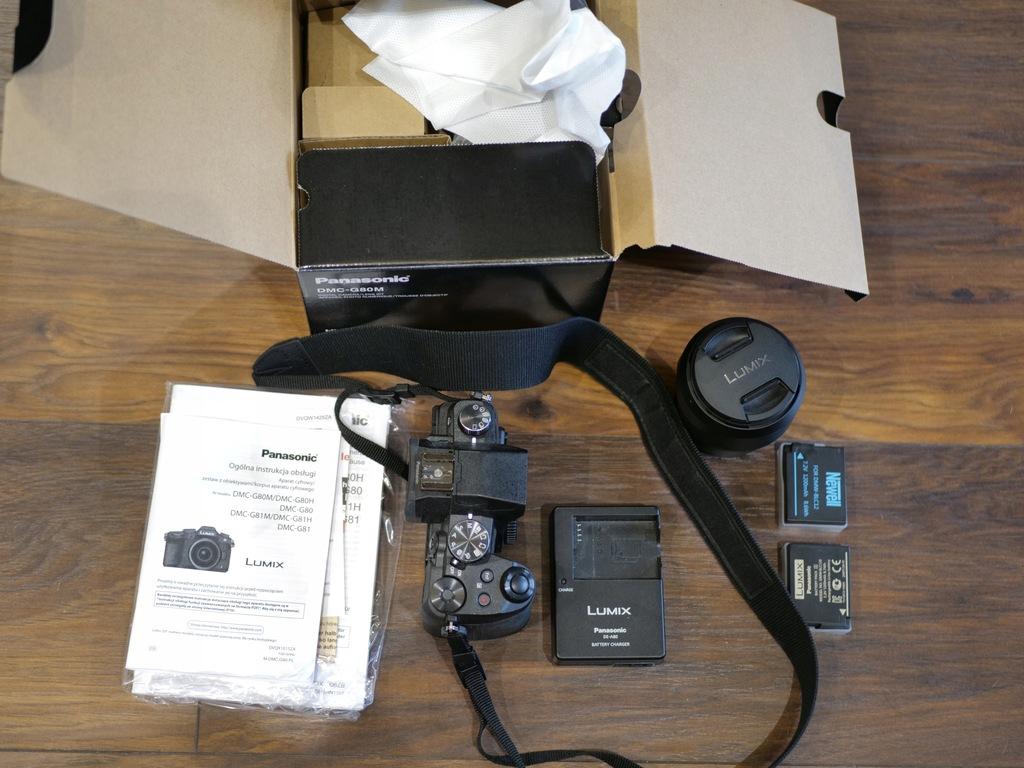 Panasonic Lumix DMC-G80 Czarny + 12-60mm