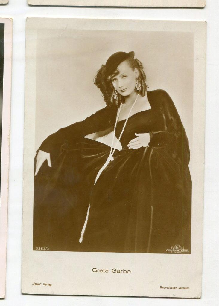 Greta Garbo Kino Film Aktorka Foto Pocztówka 61