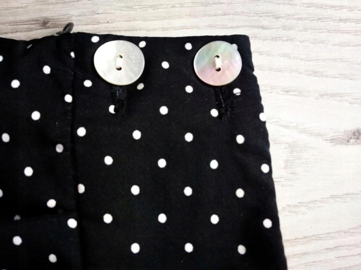 ZARA czarna spódniczka spódnica w kropki groszki bombka