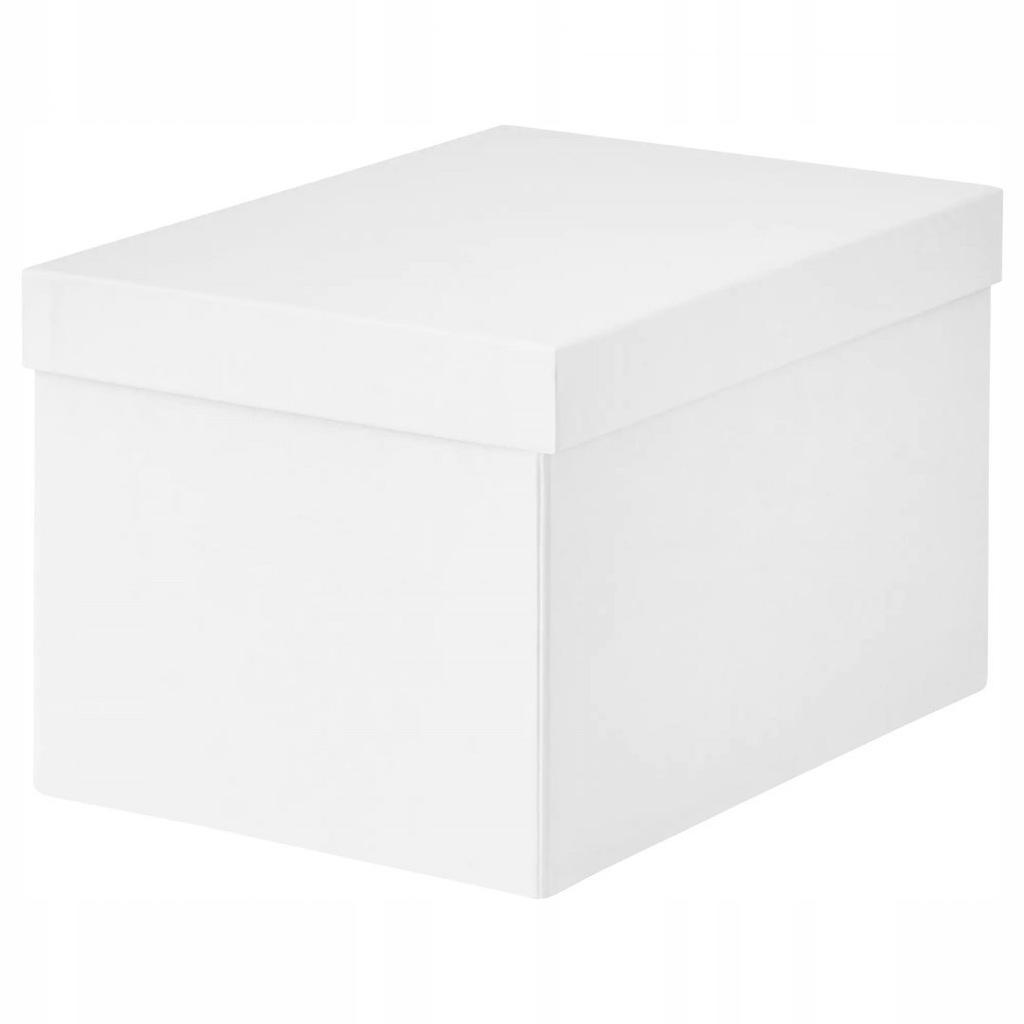 IKEA TJENA POJEMNIK Z POKRYWĄ 18x25x15 PUDEŁKO