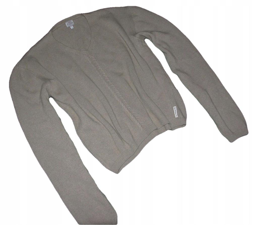 ARMANI JEANS wełniany ciepły sweter 44 BDB+ ORYG