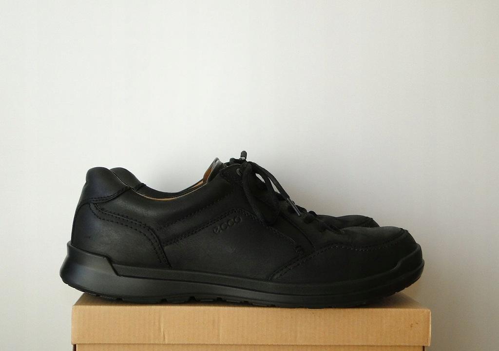 Buty ECCO BIOM Comfort Black Skorzane / 45 IDEALNE