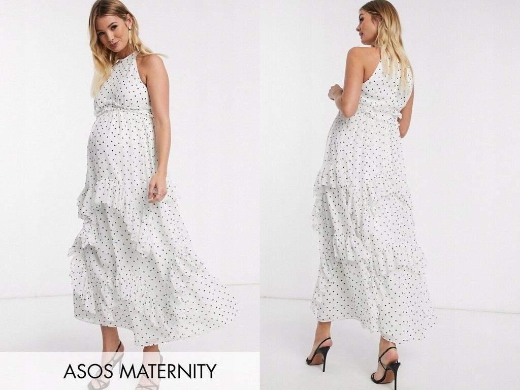 DESIGN Maternity Sukienka ciążowa biała 40