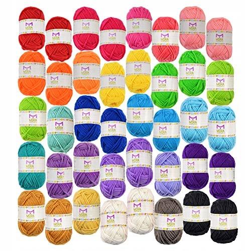 Zestaw nici z wełny akrylowej , kolorowe