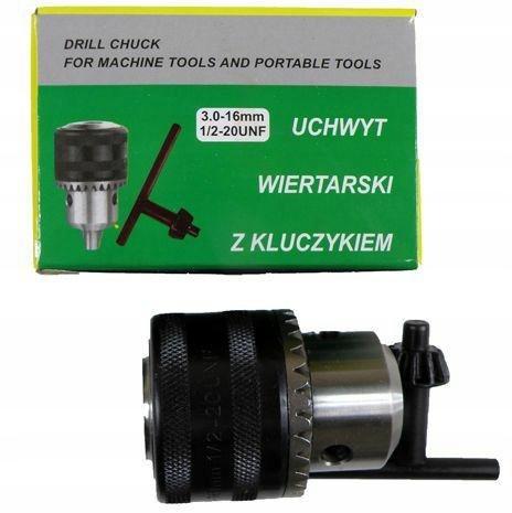 GŁÓWKA WIERTAR.16mm-1/2-KLUCZYK /SILVER