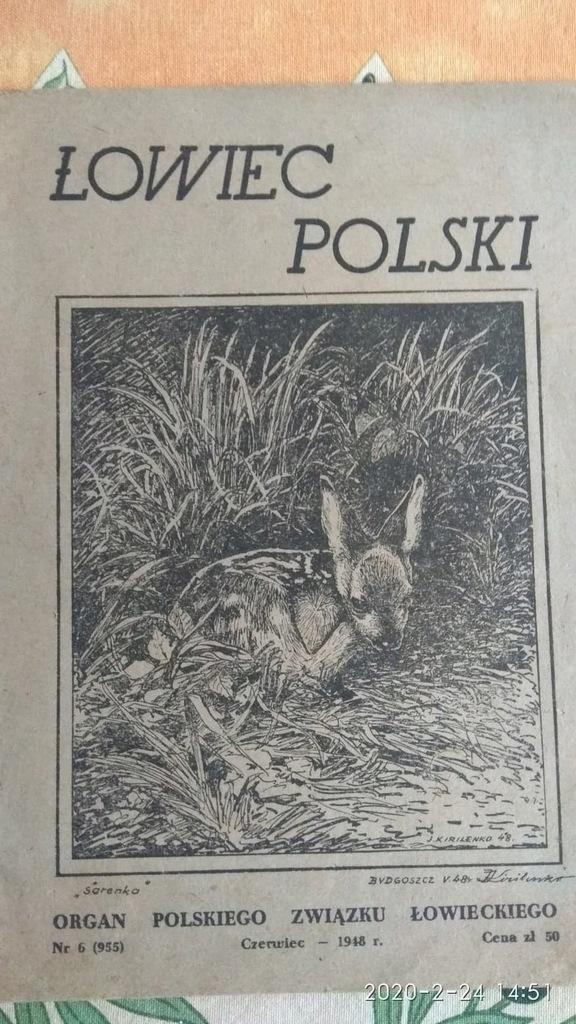 Łowiec Polski 1948 r. nr. 6