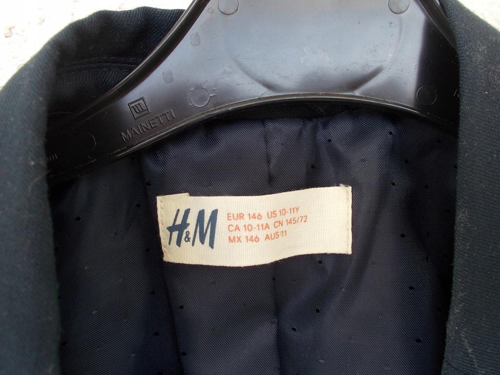 H&M MARYNARKA GRANAT chłopiec 146 /z felerem
