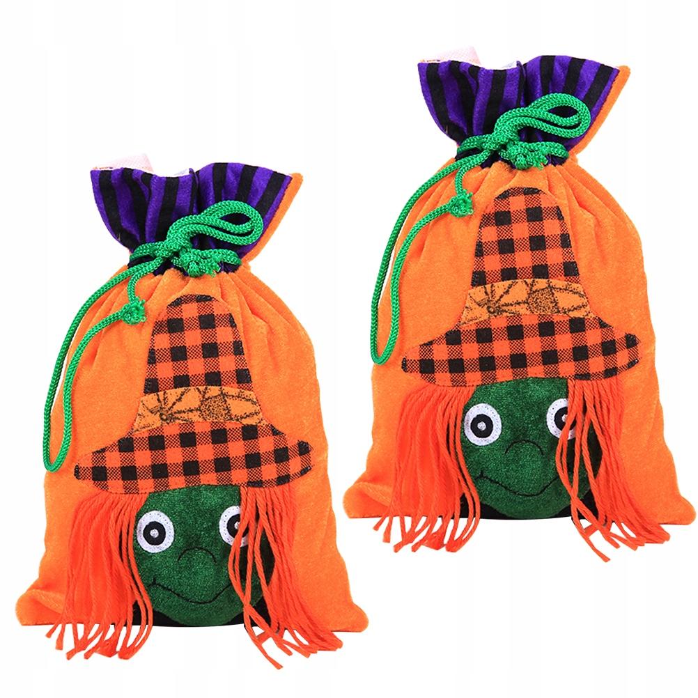 2szt Sznurek torba z cukierkami Halloweenowe torby