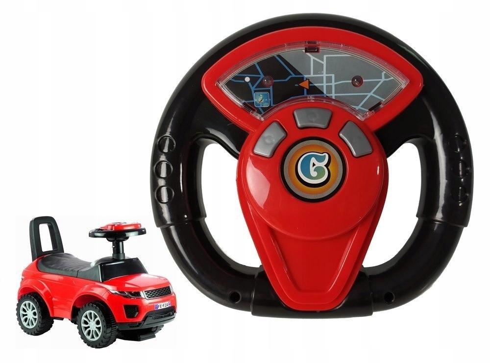 Kierownica do jeździka 613W/614W czerwona