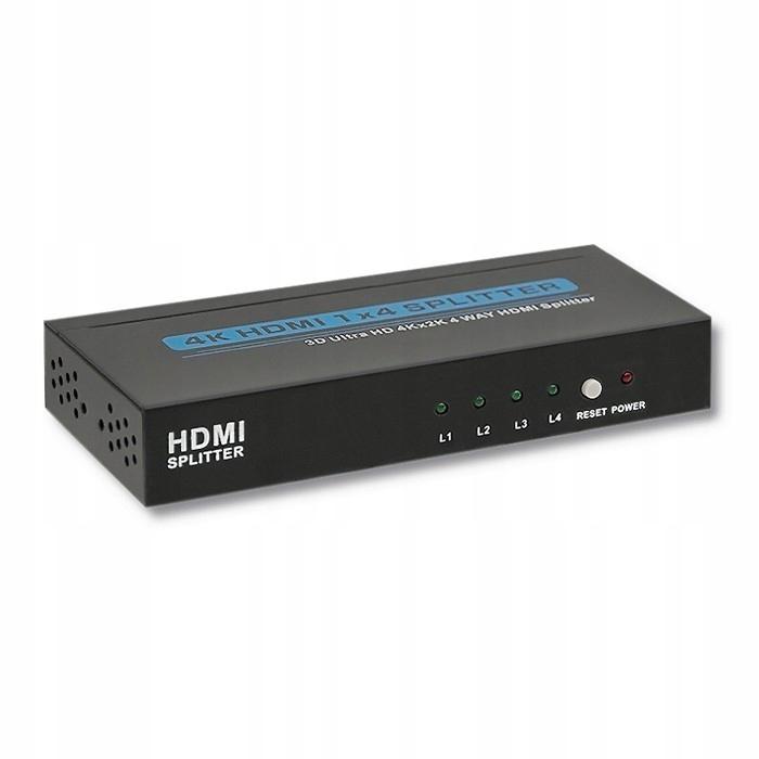 Aktywny rozdzielacz Splitter HDMI 1x4   v.1.4