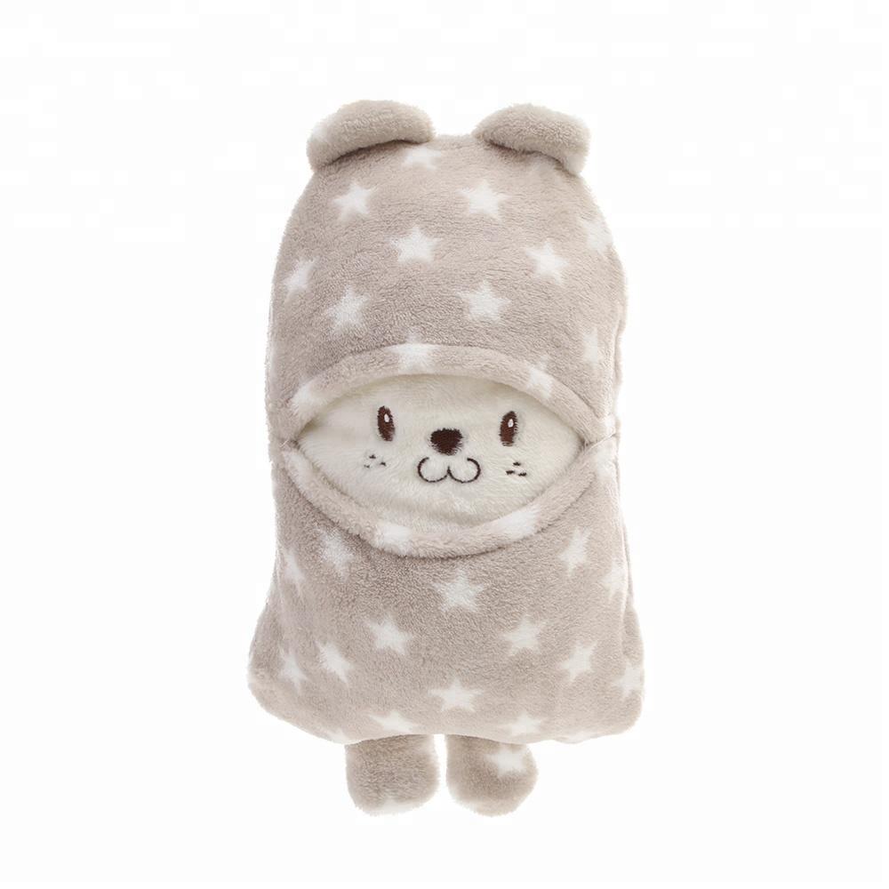 Koc kocyk poduszka 2w1 dla dzieci maskotka prezent