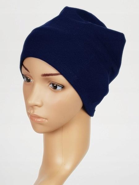 Czapka Kamila Granat bawełna turban Eva Design