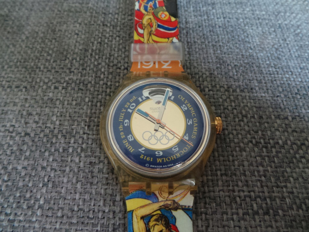 UNIKAT Swatch automatic olympic Stockholm Swiss
