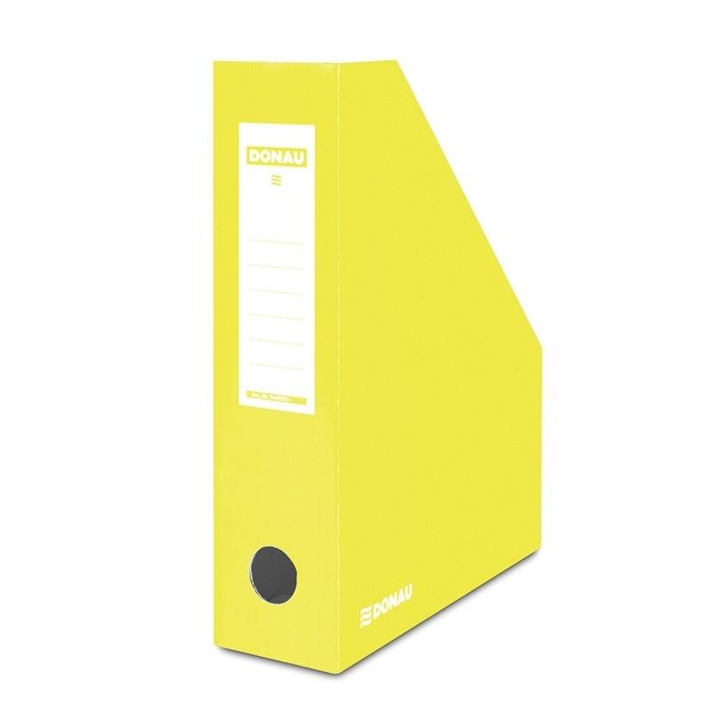 Pojemnik na dokumenty karton ścięty A4/80mm żółty