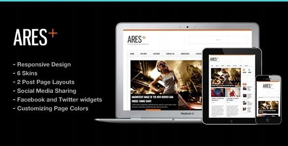Szablon Themeforest Ares Blog Magazine Newspaper