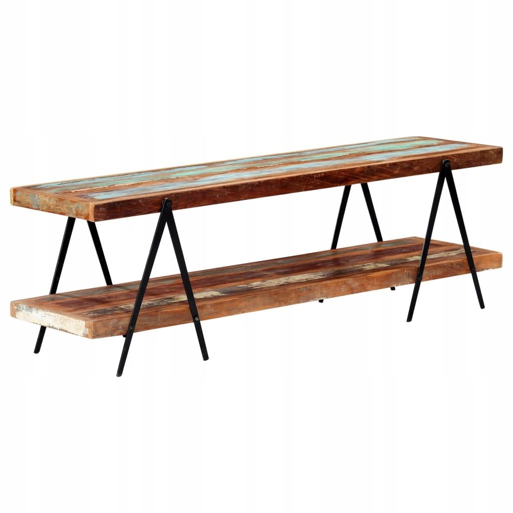 Szafka pod TV, 160 x 40 x 50 cm, lite drewno z odz