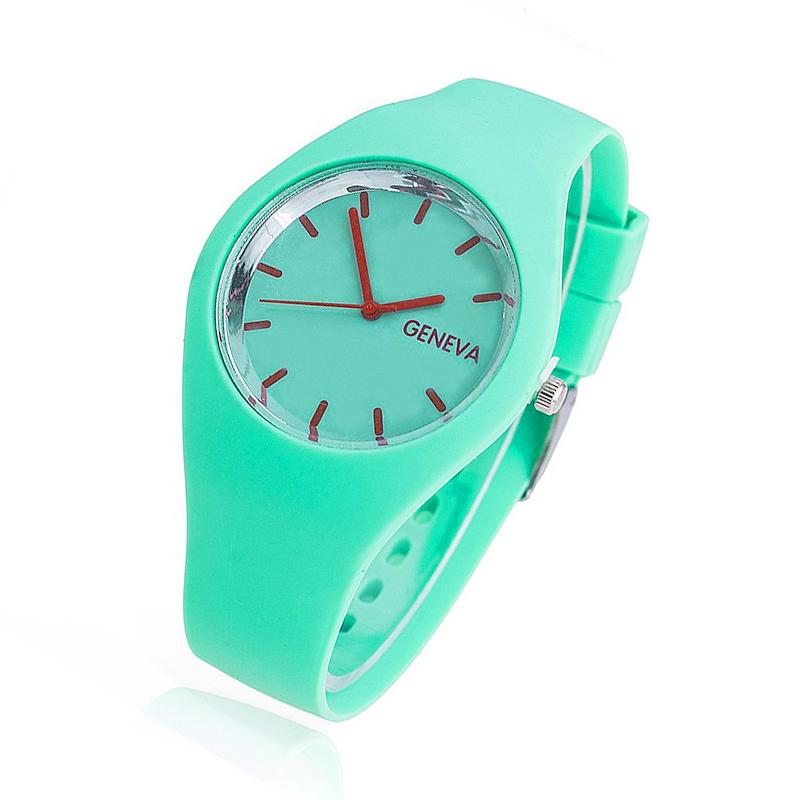 Zegarek Dziecięcy Miętowy Pastelowy Jelly Turkus