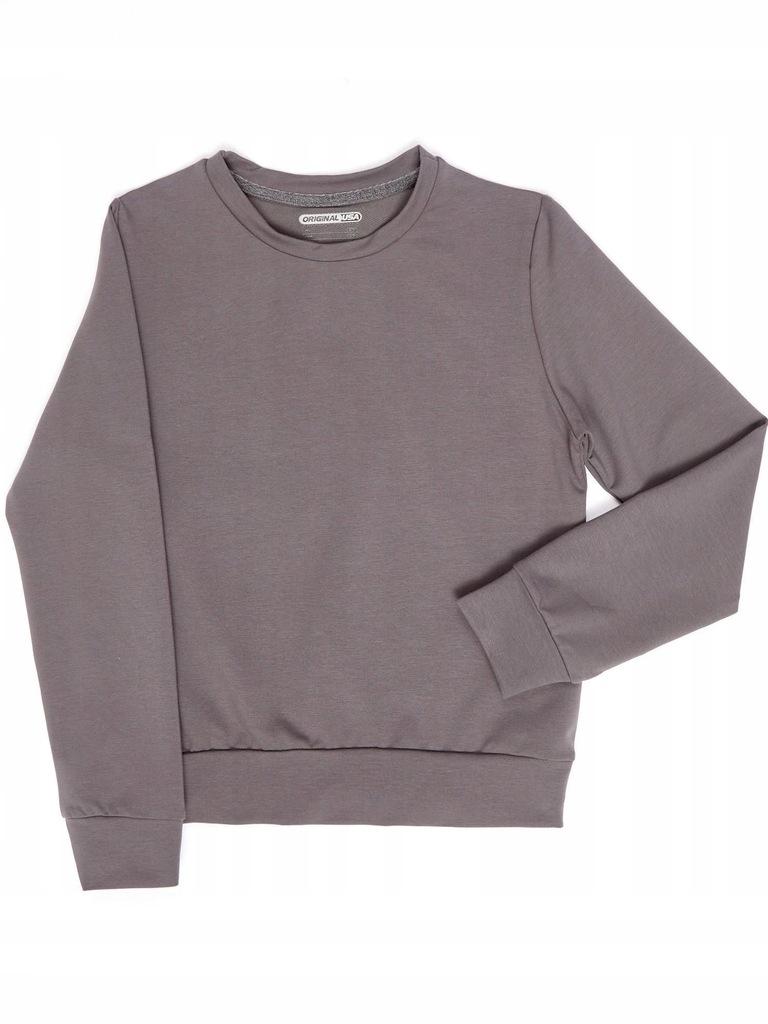 Bluza młodzieżowa basic ciemnoszara 146