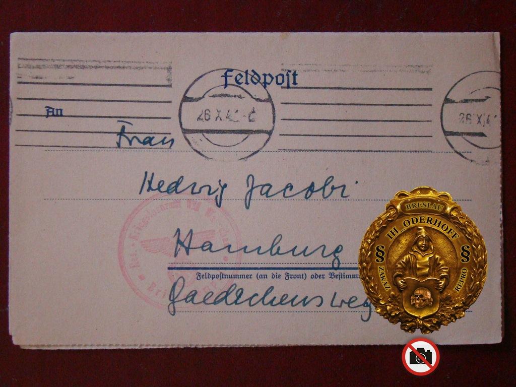 Warschau Prof.med.Feld.1941>Hamburg C9429